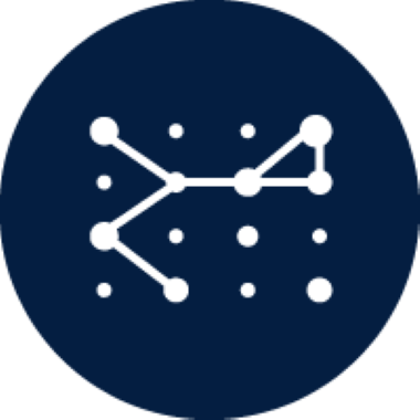 Pathways icon with connected dots